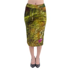 Dragonfly Dragonfly Wing Insect Midi Pencil Skirt
