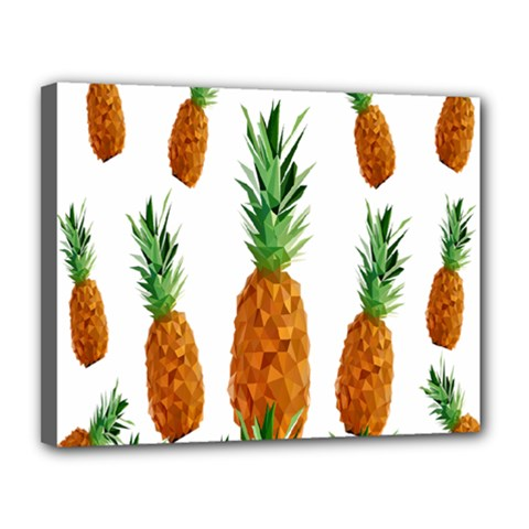 Pineapple Print Polygonal Pattern Canvas 14  x 11