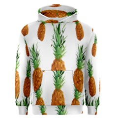 Pineapple Print Polygonal Pattern Men s Pullover Hoodie