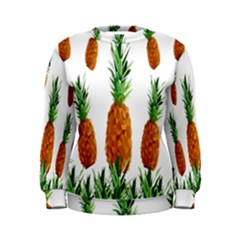 Pineapple Print Polygonal Pattern Women s Sweatshirt