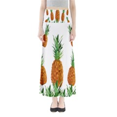Pineapple Print Polygonal Pattern Maxi Skirts