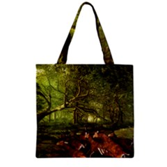 Red Deer Deer Roe Deer Antler Grocery Tote Bag
