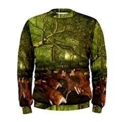 Red Deer Deer Roe Deer Antler Men s Sweatshirt