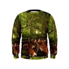 Red Deer Deer Roe Deer Antler Kids  Sweatshirt