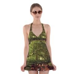 Red Deer Deer Roe Deer Antler Halter Swimsuit Dress