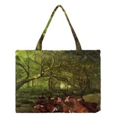 Red Deer Deer Roe Deer Antler Medium Tote Bag