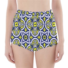 Tiles Panel Decorative Decoration High-Waisted Bikini Bottoms