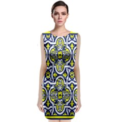 Tiles Panel Decorative Decoration Classic Sleeveless Midi Dress