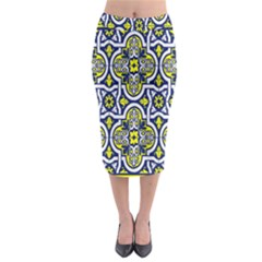 Tiles Panel Decorative Decoration Midi Pencil Skirt