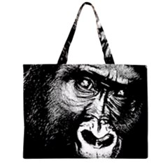 Gorilla Zipper Large Tote Bag