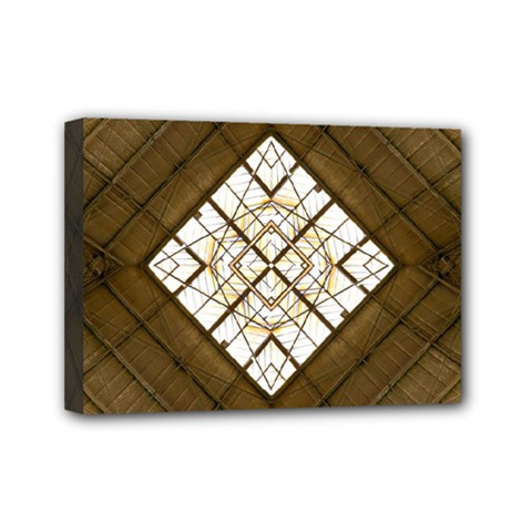 Steel Glass Roof Architecture Mini Canvas 7  X 5
