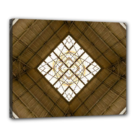 Steel Glass Roof Architecture Canvas 20  X 16