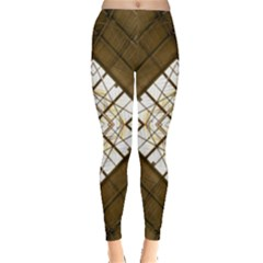 Steel Glass Roof Architecture Leggings