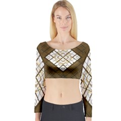 Steel Glass Roof Architecture Long Sleeve Crop Top