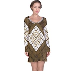 Steel Glass Roof Architecture Long Sleeve Nightdress