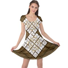 Steel Glass Roof Architecture Cap Sleeve Dresses