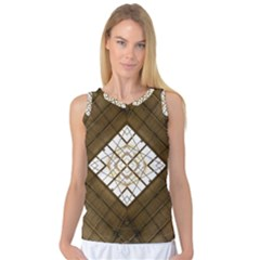 Steel Glass Roof Architecture Women s Basketball Tank Top