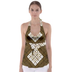 Steel Glass Roof Architecture Babydoll Tankini Top