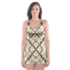 Steel Glass Roof Architecture Skater Dress Swimsuit