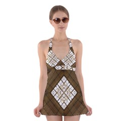 Steel Glass Roof Architecture Halter Swimsuit Dress