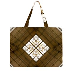 Steel Glass Roof Architecture Zipper Large Tote Bag