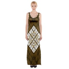Steel Glass Roof Architecture Maxi Thigh Split Dress