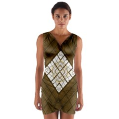 Steel Glass Roof Architecture Wrap Front Bodycon Dress