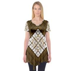 Steel Glass Roof Architecture Short Sleeve Tunic