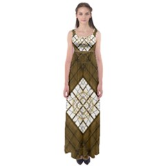 Steel Glass Roof Architecture Empire Waist Maxi Dress