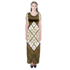 Steel Glass Roof Architecture Short Sleeve Maxi Dress