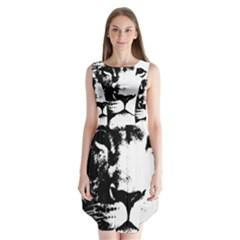 Lion  Sleeveless Chiffon Dress