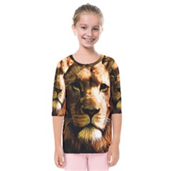 Lion  Kids  Quarter Sleeve Raglan Tee