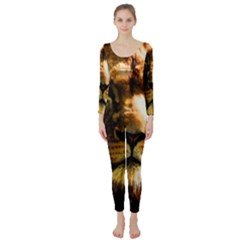 Lion  Long Sleeve Catsuit