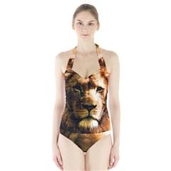 Lion  Halter Swimsuit