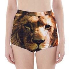 Lion  High-Waisted Bikini Bottoms