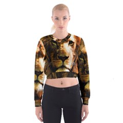 Lion  Cropped Sweatshirt