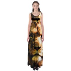 Lion  Empire Waist Maxi Dress