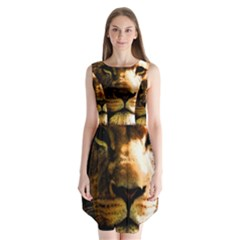 Lion  Sleeveless Chiffon Dress