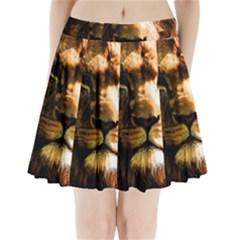 Lion  Pleated Mini Skirt
