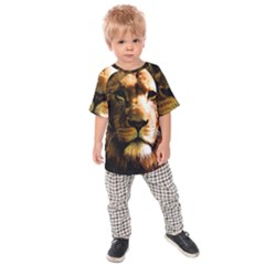 Lion  Kids  Raglan Tee