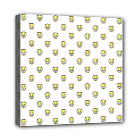 Angry Emoji Graphic Pattern Mini Canvas 8  x 8