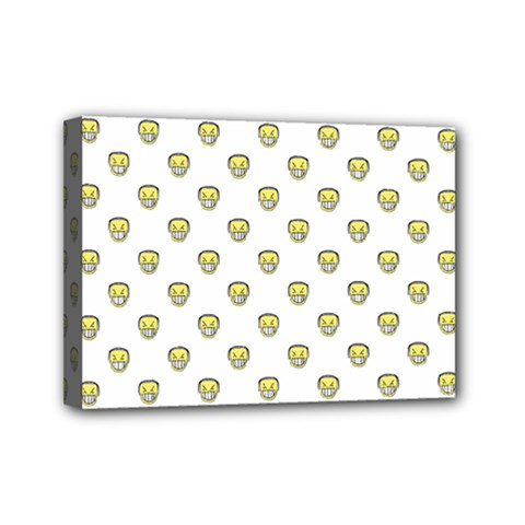 Angry Emoji Graphic Pattern Mini Canvas 7  x 5