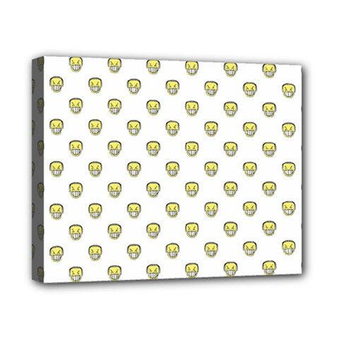 Angry Emoji Graphic Pattern Canvas 10  x 8