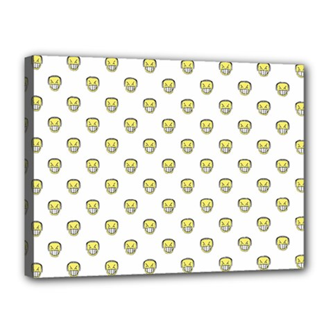 Angry Emoji Graphic Pattern Canvas 16  x 12