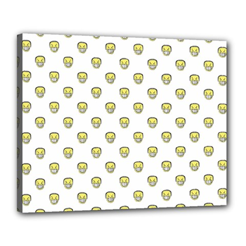 Angry Emoji Graphic Pattern Canvas 20  x 16