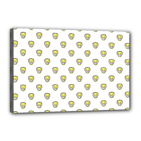 Angry Emoji Graphic Pattern Canvas 18  x 12