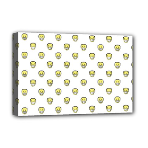 Angry Emoji Graphic Pattern Deluxe Canvas 18  x 12