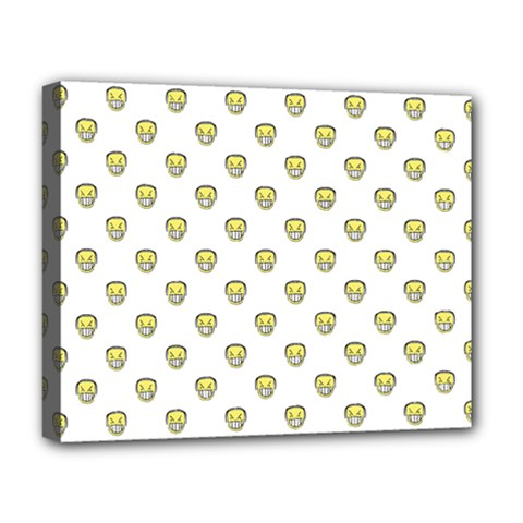 Angry Emoji Graphic Pattern Deluxe Canvas 20  x 16
