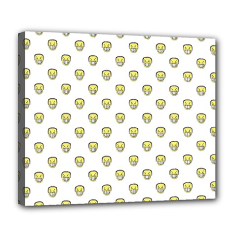 Angry Emoji Graphic Pattern Deluxe Canvas 24  x 20