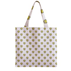 Angry Emoji Graphic Pattern Zipper Grocery Tote Bag
